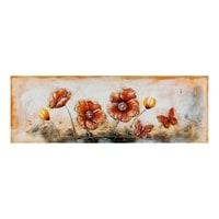 Фактурная картина «Маки и бабочки» ART-808