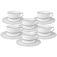 Чайный набор из костяного фарфора «Миллениум» 6 чашек и 6 блюдец