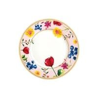 Тарелка десертная из фарфора «Contessa» (розовый) в подарочной упаковке