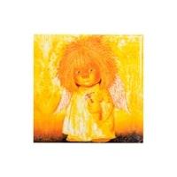 Магнит керамический «Ангел с гиацинтом» ANG-09