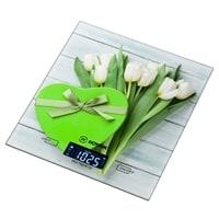 Весы кухонные «Белые тюльпаны» Hottek HT-962-024