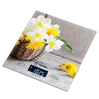 Весы кухонные «Корзина с цветами» Hottek HT-962-034