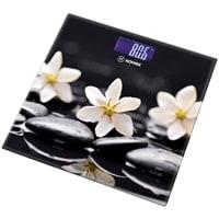 Весы напольные «Цветы на чёрном» Hottek HT-962-012