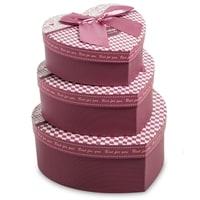 Набор из 3-х подарочных коробок «Сердце» WG-06