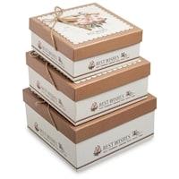 Набор из 3-х подарочных коробок WG-19