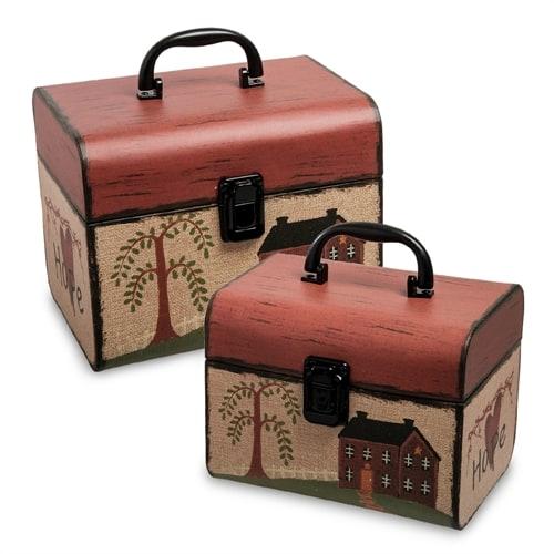 Набор из 2-х подарочных коробок «Сундук» WG-38