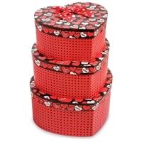 Набор из 3-х подарочных коробок «Сердце» WG-55