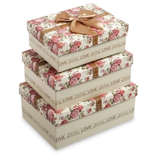 Набор из 3-х подарочных коробок WG-77
