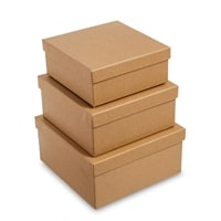 Набор из 3-х подарочных коробок «Браун» WG-108