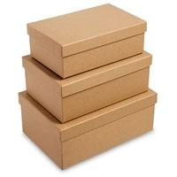 Набор из 3-х подарочных коробок «Браун» WG-110