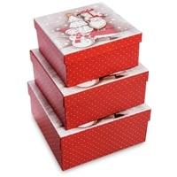 Набор 3-х подарочных коробок WG-123