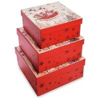 Набор 3-х подарочных коробок WG-124
