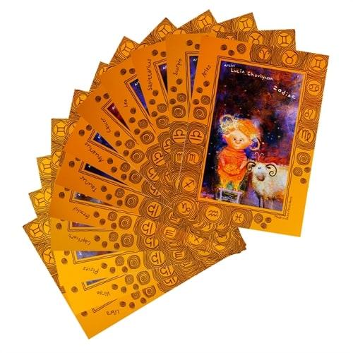 Набор из 12-и открыток «Знаки Зодиака» ANG-303