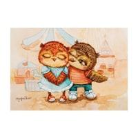 Почтовая открытка «Яркие чувства» SZ-128