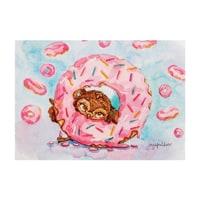 Почтовая открытка «Один кофе - один пончик» SZ-129
