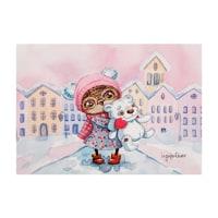Почтовая открытка «Снежный город» SZ-130