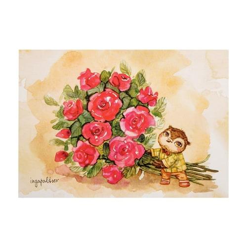 Почтовая открытка «От всей души желаю счастья» SZ-135
