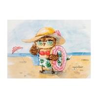 Почтовая открытка «Солнце! Море! Пляж!» SZ-136