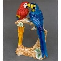 Статуэтка из фарфора «Пара попугаев» XA-308