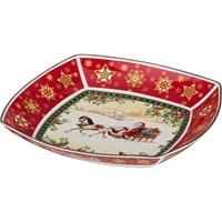 Салатник квадратный из фарфора «Санта на санях» (Christmas Collection)