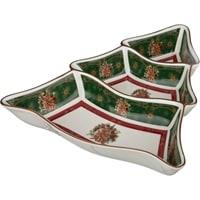 Менажница 3-х секционная из фарфора «Новогодний подарок» (Christmas Collection)