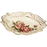 Блюдо овальное из фарфора «Корейская роза»
