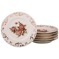 Набор из 6-ти фарфоровых тарелок «Корейская роза»