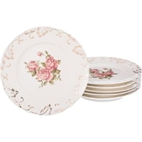 Набор из 6-ти тарелок «Корейская роза»