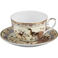 Чайная пара из фарфора «Павлин»