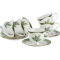 Чайный набор из фарфора на 6 персон «Ландыш»