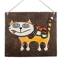 Панно «Кошка озорная» KK-12 (шамот)
