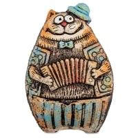 Фигурка «Кот с аккордеоном» KK-98 (шамот)