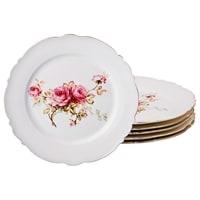 Набор из 6-ти фарфоровых тарелок «Хендель»