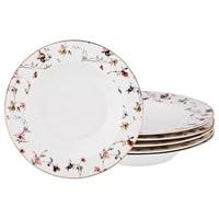 Набор из 6-ти фарфоровых суповых тарелок «Вайлд»
