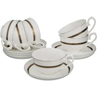Чайный набор из костяного фарфора на 6 персон «Бекингем»