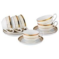 Чайный набор из костяного фарфора на 6 персон «Монэ»