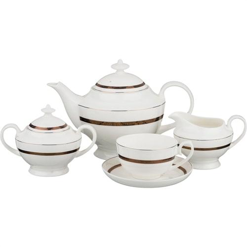 Чайный сервиз из костяного фарфора на 6 персон «Бекингем»