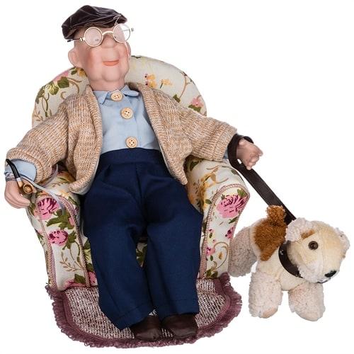 Кукла фарфоровая «Дедушка»