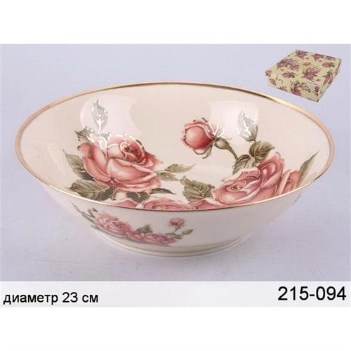 Салатник из фарфора «Корейская роза» M-215094 в подарочной упаковке