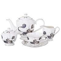 Чайный сервиз из фарфора на 6 персон «Котики» M-264864