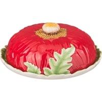 Блюдо для блинов с крышкой «Маковый цвет» M-358854