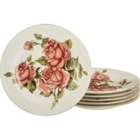 Набор из 6-ти тарелок «Корейская роза» M-126502