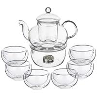 Чайный набор на 6 персон: чайник и 6 чашек M-250115