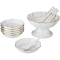 Фарфоровый набор для варенья на 6 персон: креманка и 6 розеток с ложками «Фабьен» M-760635