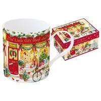 Кружка из фарфора «Новогодняя сказка - Магазин» в подарочной упаковке
