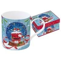 Кружка из фарфора /Новогодняя сказка - Малиновка» в подарочной упаковке