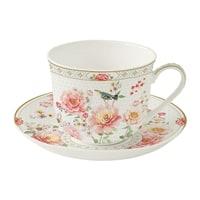 Фарфоровая чашка с блюдцем «Райский сад» в подарочной упаковке