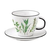 Фарфоровая чашка с блюдцем «Herbarium» в подарочной упаковке