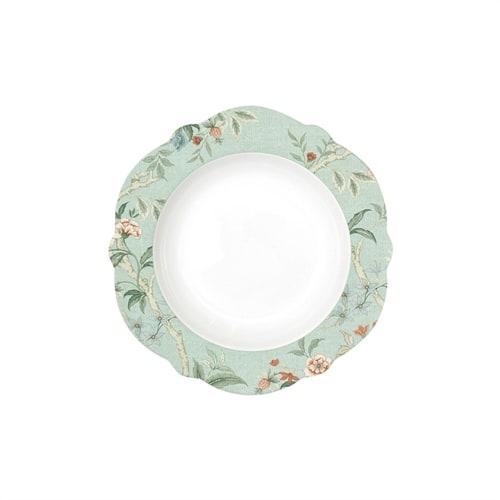 Суповая тарелка из фарфора «Zen Garden» (зелёный)
