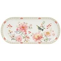 Блюдо фарфоровое овальное «Райский сад» в подарочной упаковке